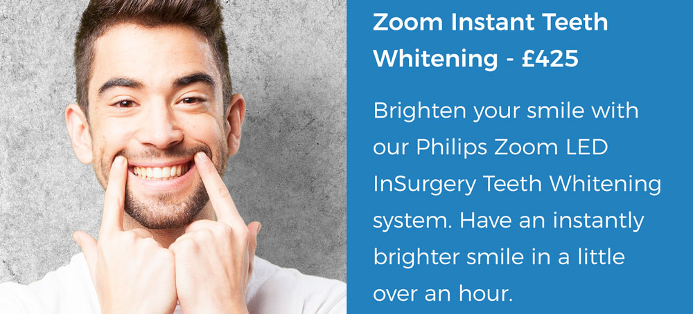 Zoom instant Teeth Whitening offer | Whites Dental